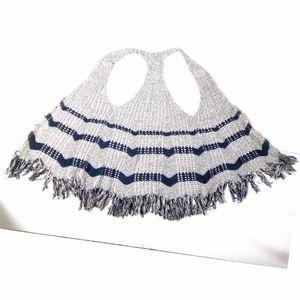 Free People Boho Hippie Fringe Crochet Vest XS
